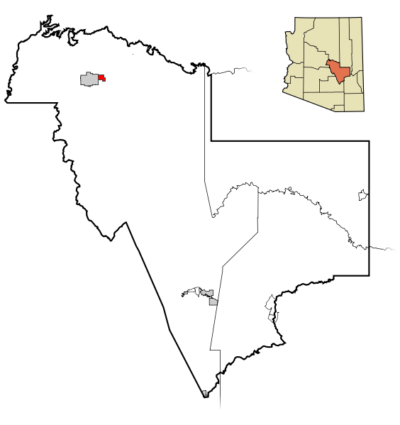 Gila County Incorporated and Unincorporated areas Star Valley highlighted