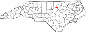 N C Map-doton- Youngsville