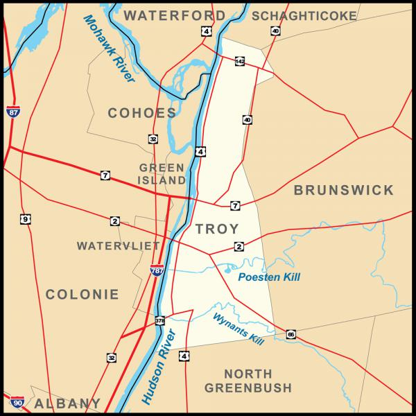 Troy, New York Map