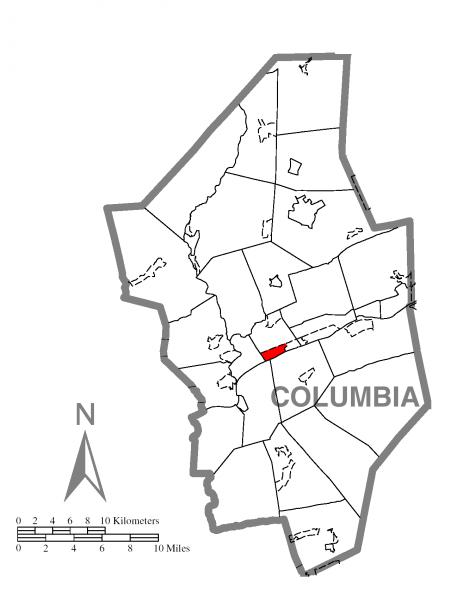Map of Espy, Columbia County, Pennsylvania Highlighted