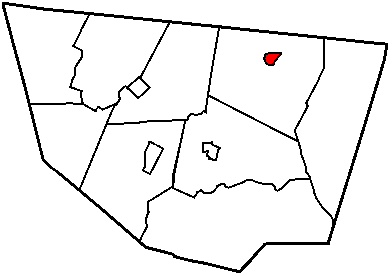 Map of Sullivan County Pennsylvania Highlighting Dushore