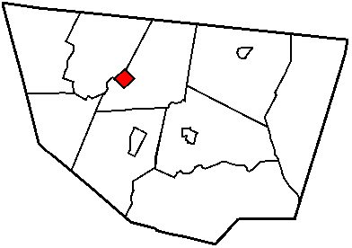 Map of Sullivan County Pennsylvania Highlighting Forksville