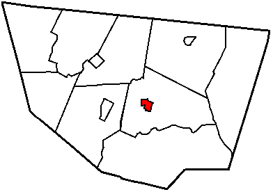 Map of Sullivan County Pennsylvania Highlighting Laporte